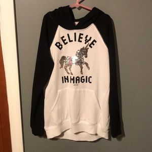 NEWLY LISTED!! Justice Sequin Unicorn Hoodie